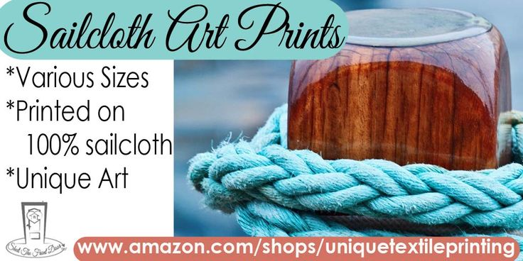 Knotted in blue Sailcloth Art Print