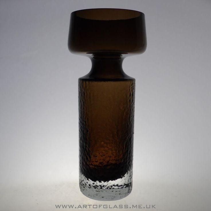 Riihimaki 'Safari' brown glass vase by Tamara Aladin