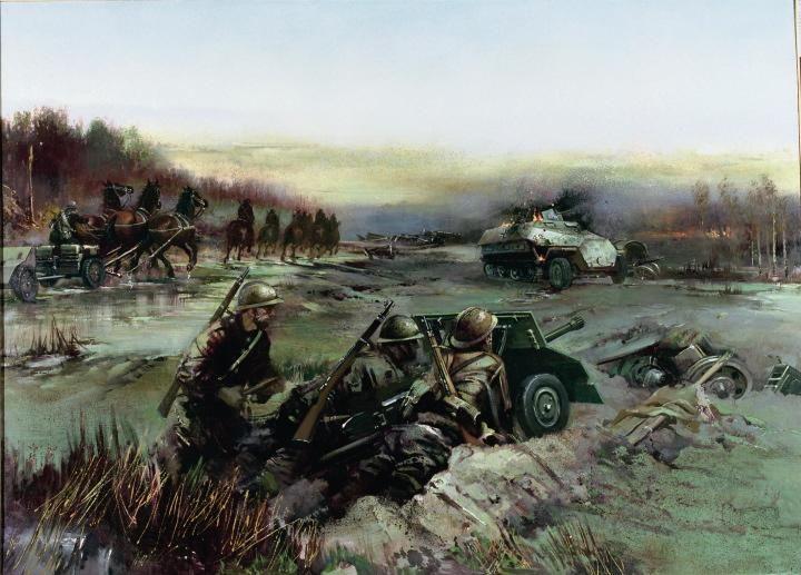 """Bitwa pod Kockiem – bitwa kampanii wrześniowej, stoczona od 2 do 6 października 1939 pomiędzy oddziałami polskiej Samodzielnej Grupy Operacyjnej """"Polesie"""" gen. Kleeberga a niemieckimi oddziałami XIV Korpusu Zmotoryzowanego gen. von Wietersheima. Taktycznie bitwa była zwycięska dla Polaków, jednak strategicznie wygrali Niemcy. Była to ostatnia bitwa kampanii wrześniowej stoczona przez regularne wojsko."""