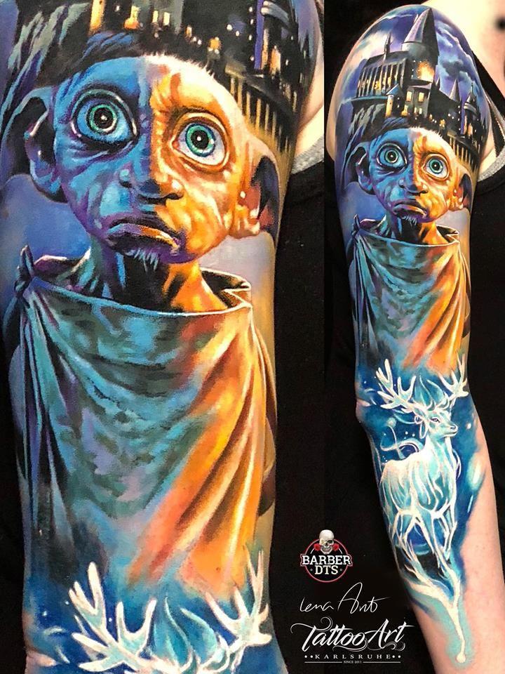Ibtc 2018 Featured Tattoo Artists Harry Potter Tattoos Harry Potter Tattoo Sleeve Sleeve Tattoos