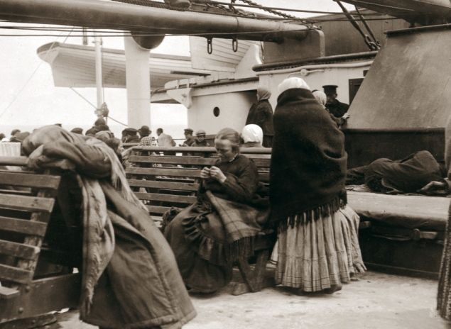 Steerage getting settled on deck - Titanic Sinking 100th Anniversary: All aboard! Real photos on board the Titanic before it sank - NY Daily News