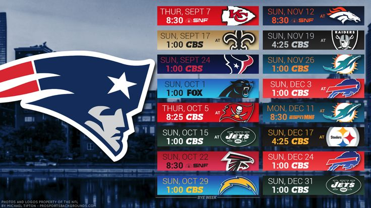 2017-18 NEW ENGLAND PATRIOTS FOOTBALL SCHEDULE SEASON FRIDGE MAGNET (LARGE 6.5X4