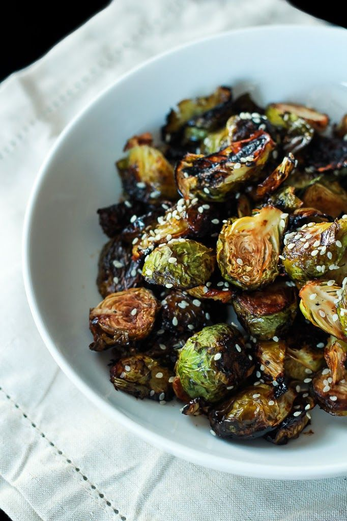 Hoisin Glazed Brussels Sprouts Recipe — Dishmaps
