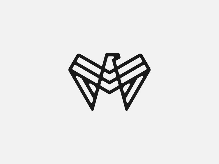 Dribbble - Eagle Monogram by Levi Lowell