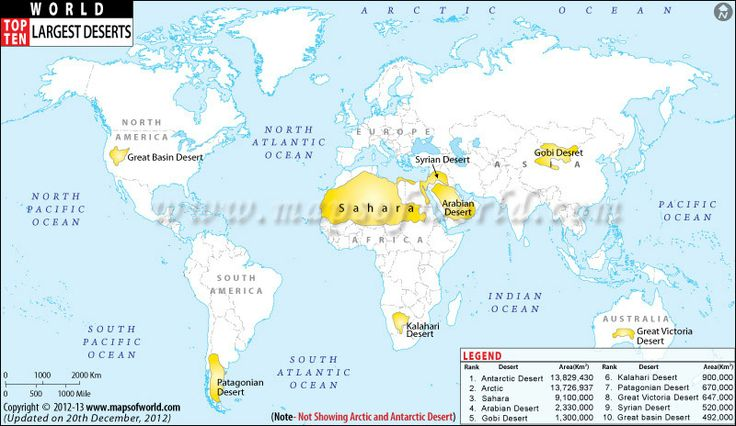 Top Ten Largest Deserts in the World world Top 10 theme