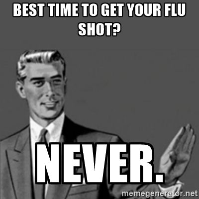 When is the best time to get a flu shot this season?