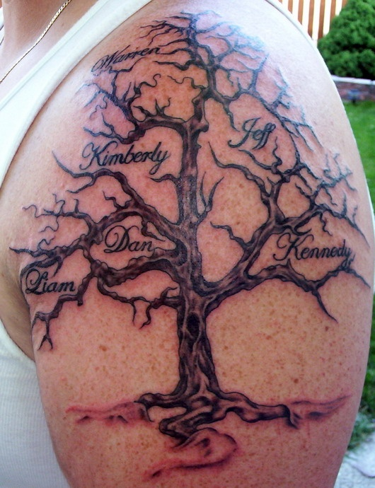 Family Tree Tattoo Bigger Names Hidden Better With Leaves I D Like