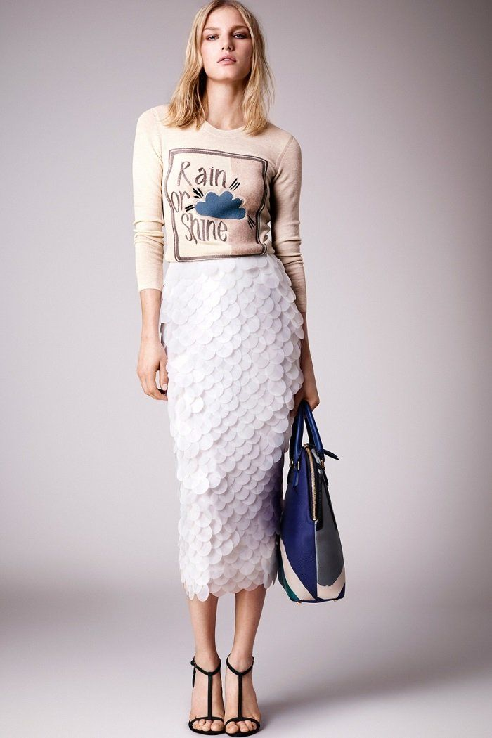 блестящая юбка-карандаш