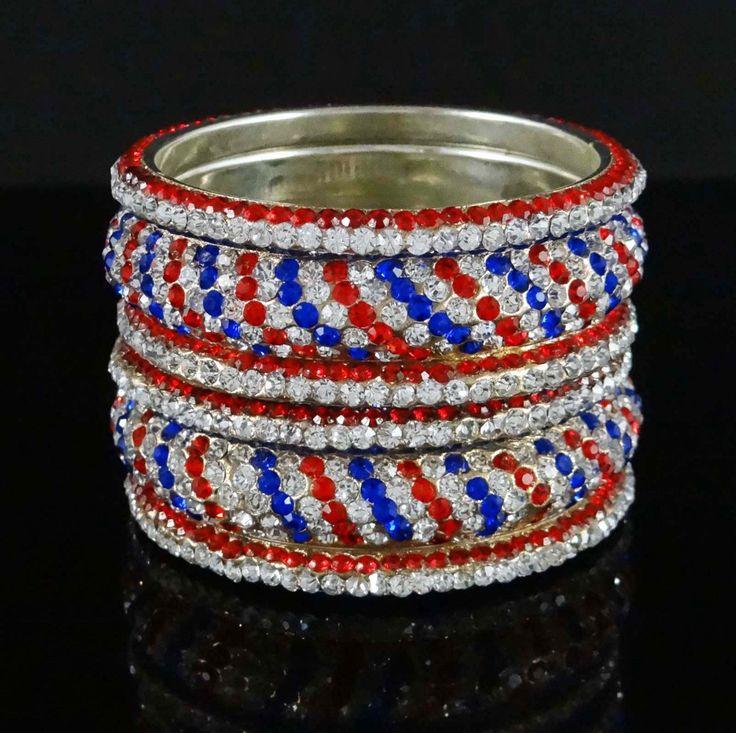 Indian Bollywood Ethnic 6Pcs Kada Bangle Set Traditional Jewelry 26 Kj2079C