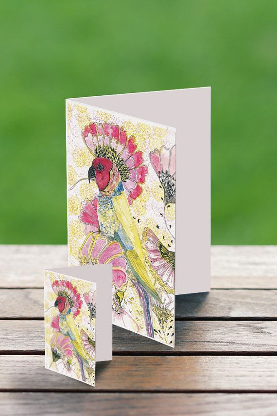 Rosela Gift Card Watercolor Bird Card Set Bird Greeting Card