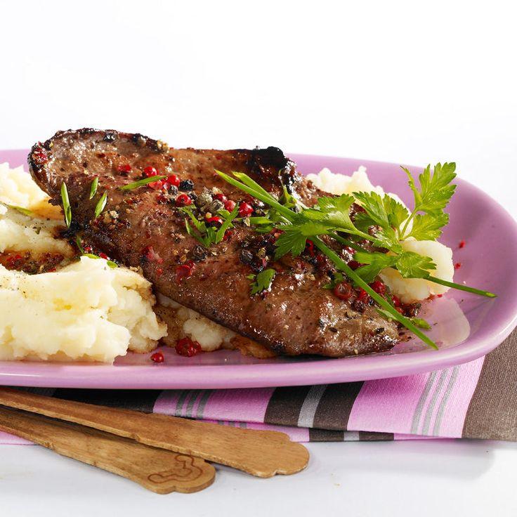 Foie de veau aux trois poivres, facile : recette sur Cuisine Actuelle