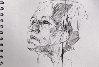 art - social dysfunction celebrated as ritual: preparatory drawing