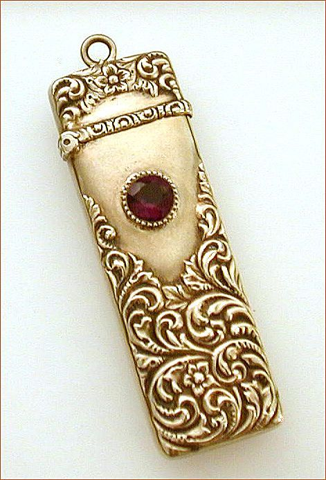 antique needle case could be used on a chatelaine