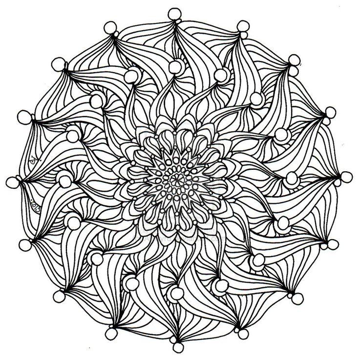 302 Best Zentangle Mandalas Images On Pinterest
