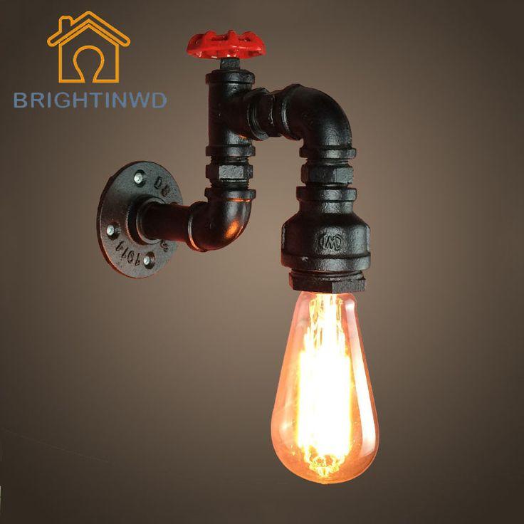 220 V Loft vento industrial retro bar café restaurante criativo escada de ferro tubulação de água lâmpada de parede decorativo parede Lampen(China (Mainland))