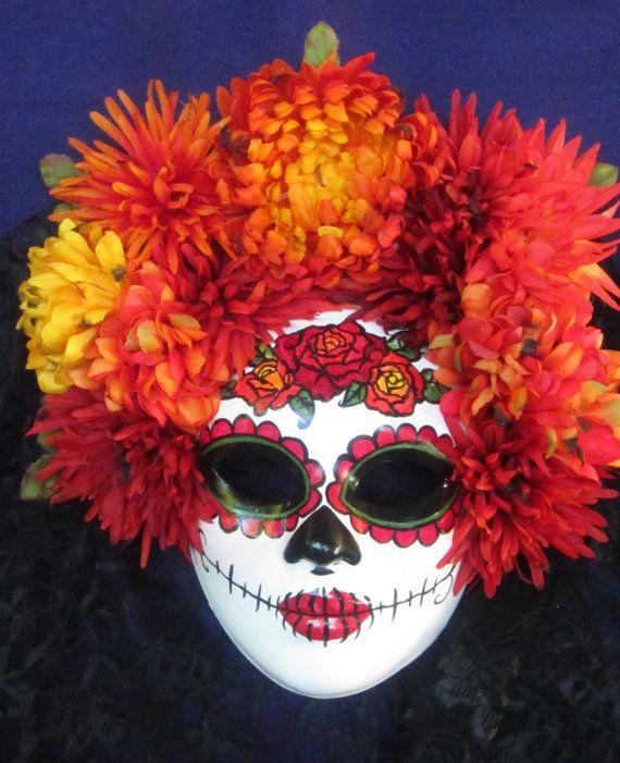 OOAK Puesta Del Sol Mask Day of the Dead/Dia de by EffigyMasks