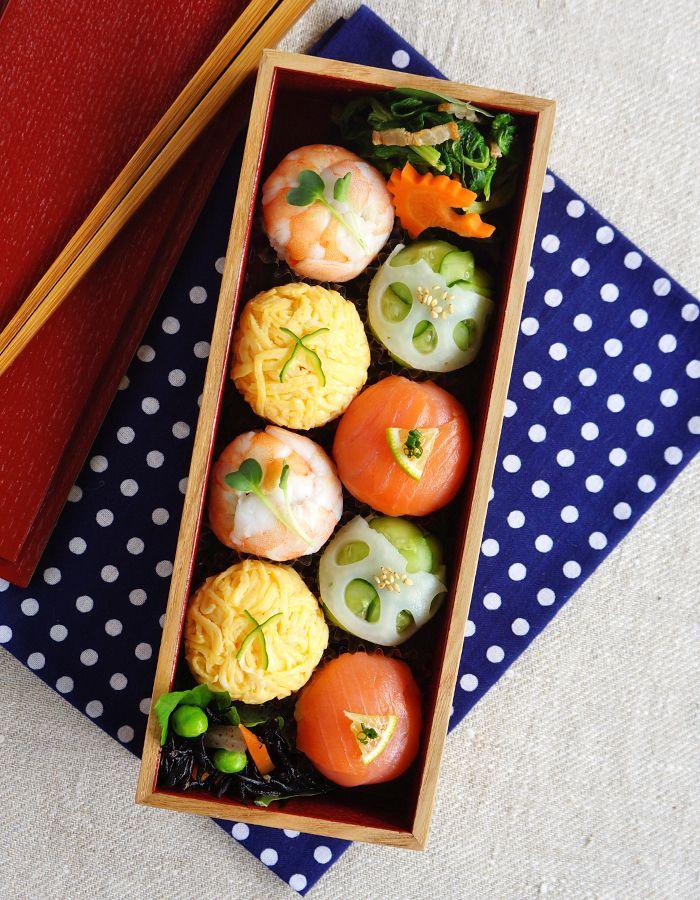 Temari-zushi, sushi balls bento