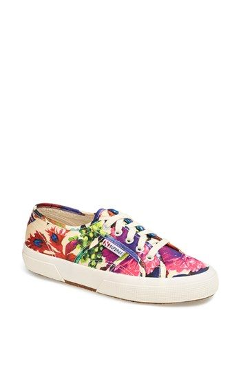 Superga 'Cotu - Flowery' Sneaker (Women) available at #Nordstrom
