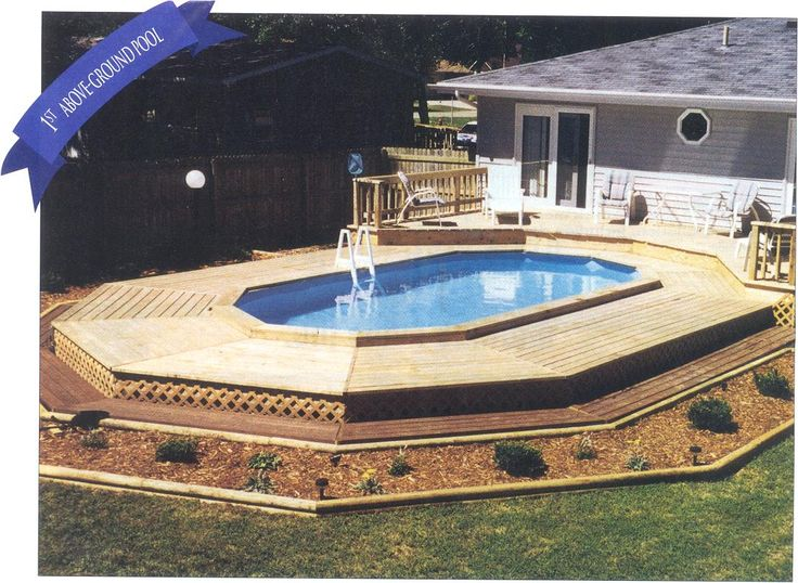 23 best swimming pools images on pinterest above ground for Above ground pool decks nj