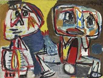 Karel Appel, deux personnages