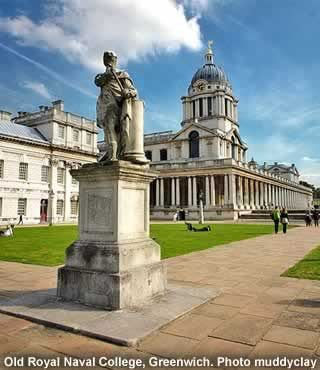 Old Royal Naval Colledge, Greenwich, London....Greenwich Mean Time...just round the corner from the best pie and mash shop in England!