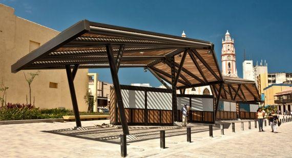 Resultado de imagen para pergolas de perfiles de acero for Mobiliario espacio publico