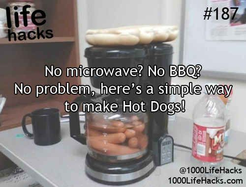 Make a simple meal with a coffeemaker. | 36 Life Hacks Every College Student Should Know