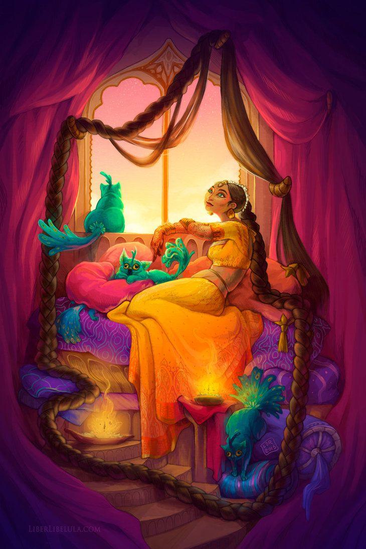Indian Rapunzel (With process video) by LiberLibelula