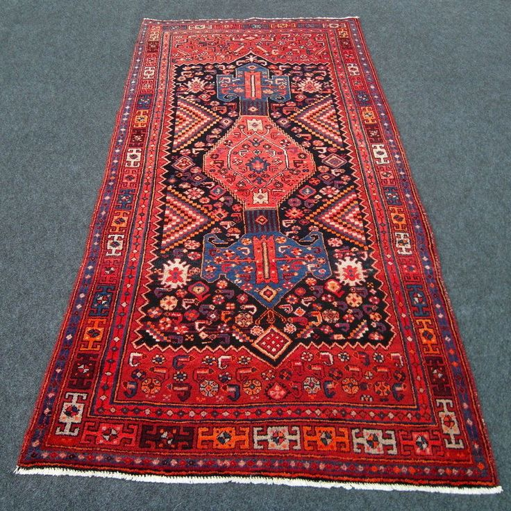 Alter Orient Teppich 262 x 126 cm Blau Perserteppich Old Carpet Rug Blue Tappeto