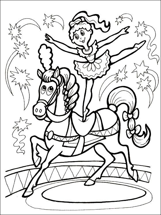 Circus horse coloring page | Coloring pages | Circus ... A Coloring Page