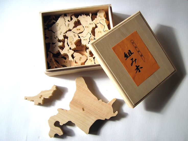 福賀木目会 日本地図パズル