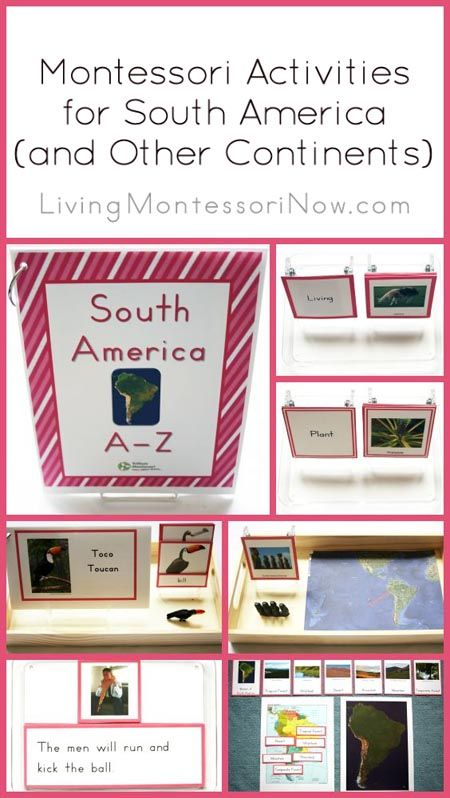 Montessori Activities for South America (and Other Continents) using the Trillium Montessori 7 Continents A-Z Bundle
