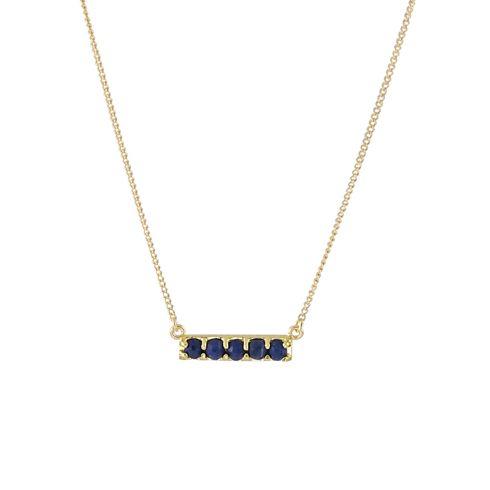 Sim Necklace - Gold & Lapis - Nicole Fendel