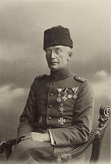 Commander of the Ottoman Eighth Army, Kress von Kressenstein 1916 .Friedrich Freiherr Kress von Kressenstein (April 24, 1870 – October 16, 1948) was a German General from Nuremberg. He was a member of the group of German officers who assisted in the direction of the Ottoman Army during World War I.