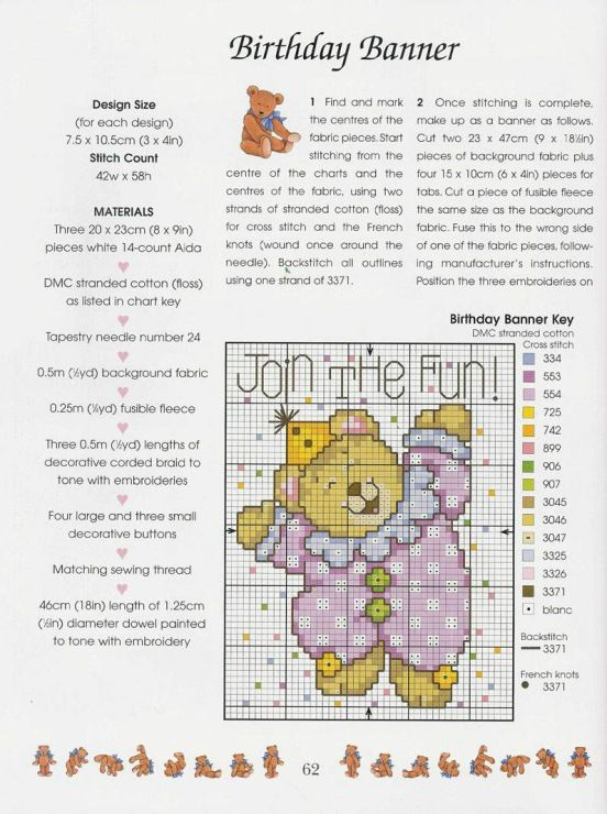Gallery.ru / Фото #56 - Cross Stitch Teddies - KIM-2