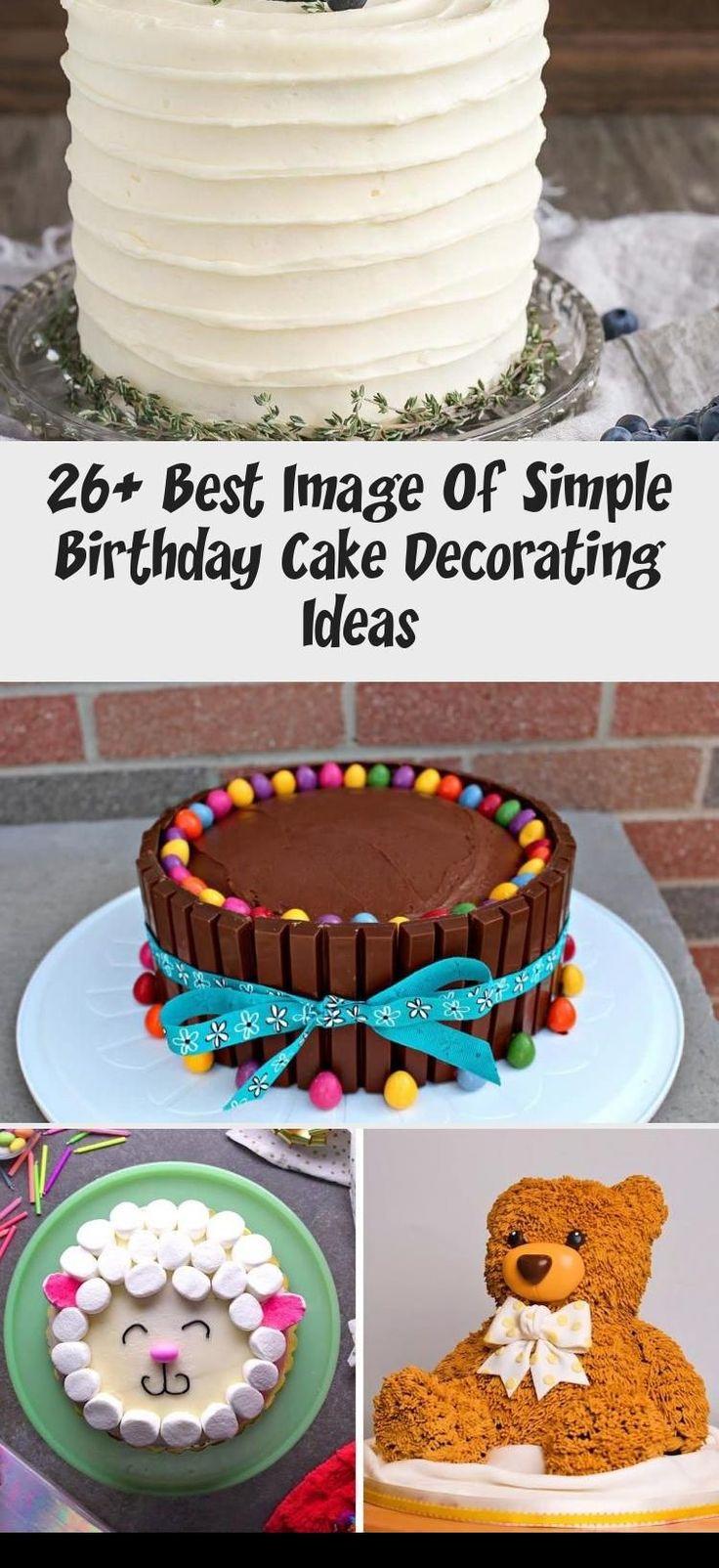 26+ Best Image Of Simple Birthday Cake Decorating Ideas