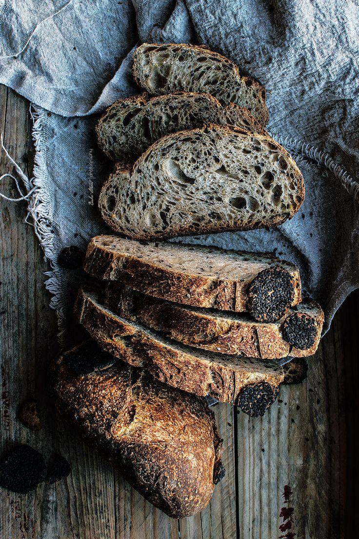 ... black sesame and gomasio sourdough bread ...