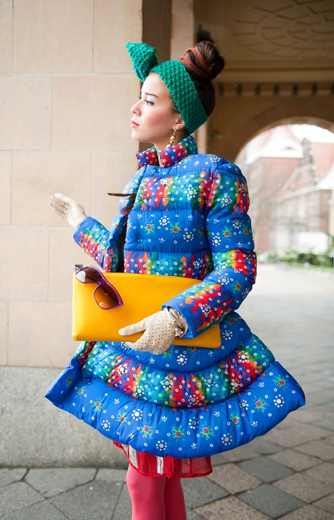 MACADEMIAN GIRL: Epicentre of COLORS. Bow headband by Nudakillers.