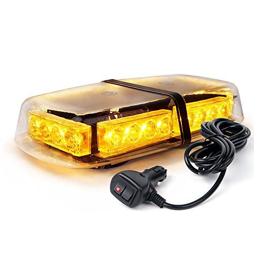 Xprite Yellow(Amber) 24 LED Roof Top Mini Bar, Truck Car Vehicle Law Enforcement Emergency Hazard Beacon Caution Warning Snow Plow Safety Flashing Strobe Light with Magnetic #Xprite #Yellow(Amber) #Roof #Mini #Bar, #Truck #Vehicle #Enforcement #Emergency #Hazard #Beacon #Caution #Warning #Snow #Plow #Safety #Flashing #Strobe #Light #with #Magnetic