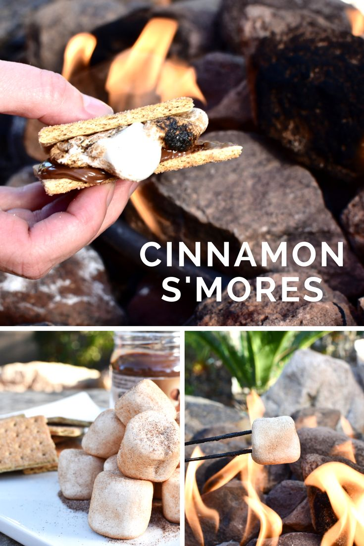 These gooey, cinnamon-y, Nutella-y S'mores will take your camping dessert up a notch!