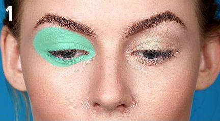 Горизонтальная техника макияжа  Такой способ нанесения макияжа будет актуален для обладательниц круглых, выпуклых глаз — он визуально удлинит и вытянет их. Тени наносятся и растушевываются горизонтально. С таким мейкапом хорошо смотрятся стрелки.