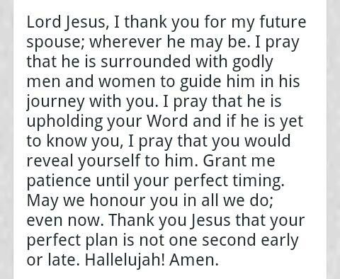 A prayer for my daughters future husband!