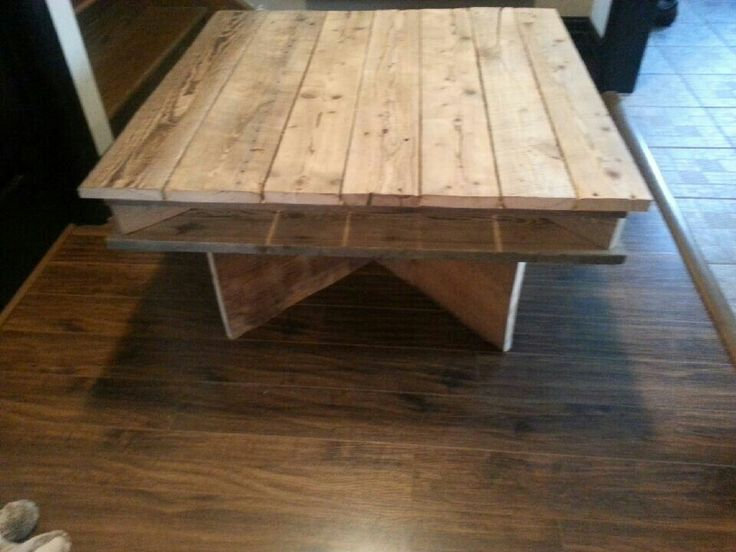 Barnwood table conception rustik bois de grange - Table salon palette ...