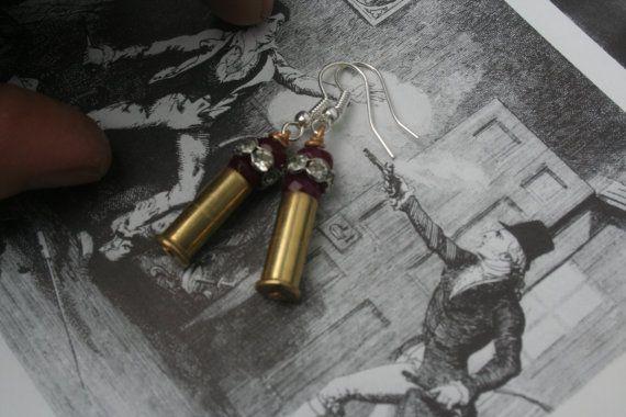 Rifle Shell Earrings 22 rifle Rifle shell jewelry by IRISHTREASURE