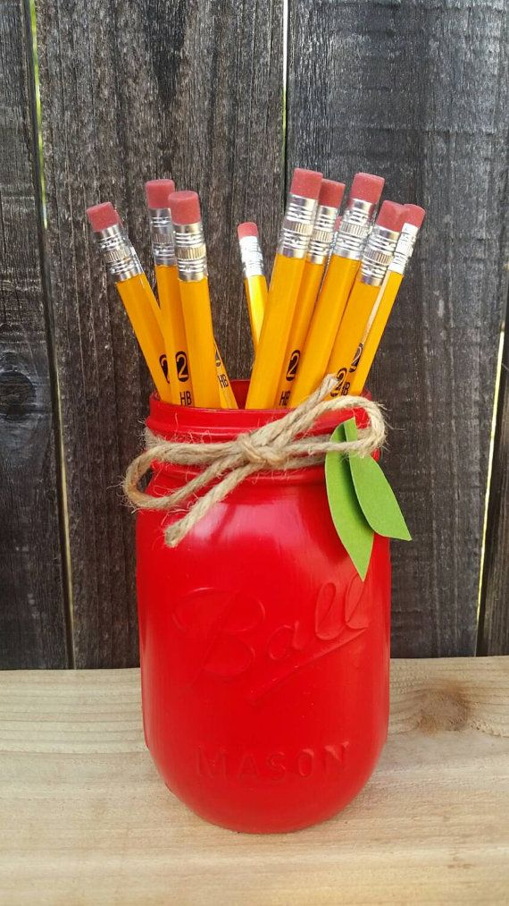 Check out this item in my Etsy shop https://www.etsy.com/listing/245424739/teacher-gift-red-mason-jar-teacher