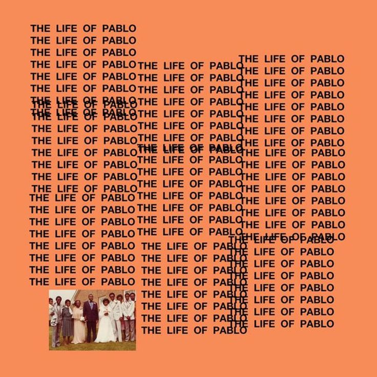 the life of pablo, designed by peter de potter kanye west album cover