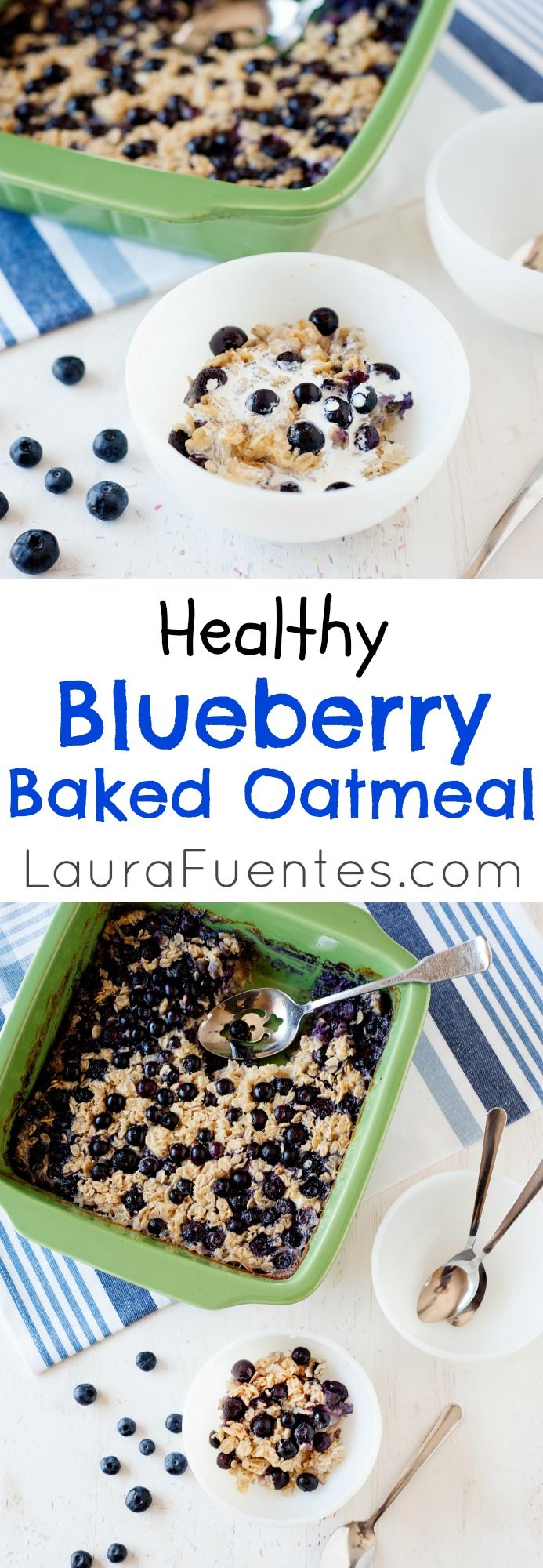 This blueberry baked oatmeal recipe is a hearty and healthy breakfast that can be prepared the night before or while getting the kids ready for school. #breakfast #recipes #brunch #easy #recipe
