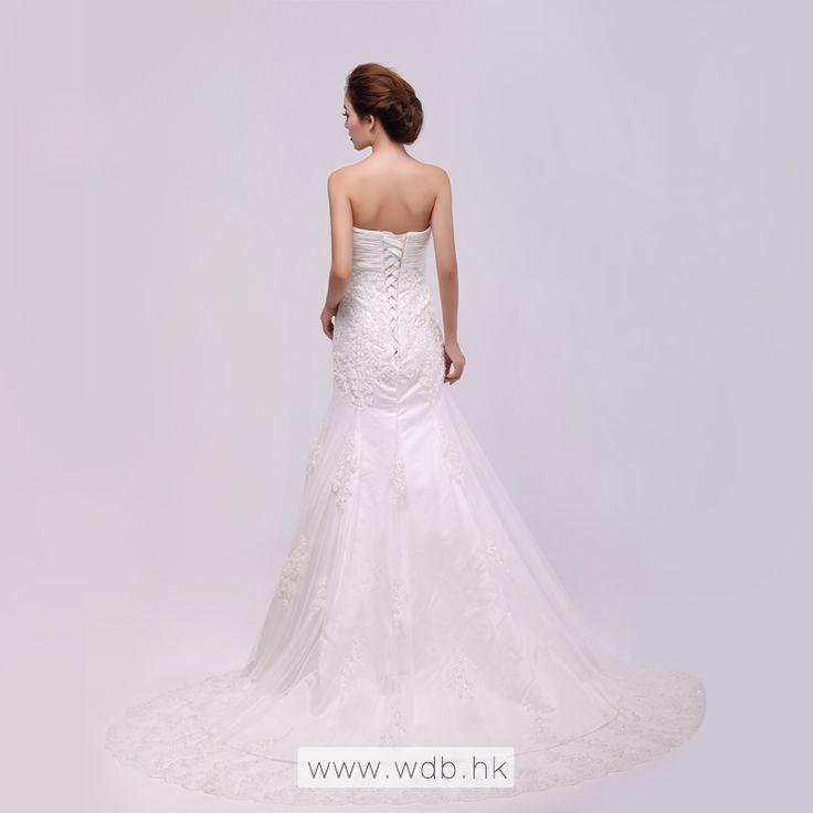 New arrival Strapless Trumpet / Mermaid Net wedding dress $298.98