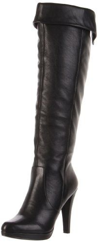 This is my new favorite boot! Perfect color to go with anything and make my legs look longer and lean. Looks sexy but still comfortable. Comes all the way to my knee. Good with dresses and skinny jeans. I know I will wear the boots until they die!