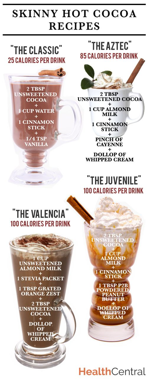 Looking for a ligher calorie option to warm up with this holiday season? Try one of these skinny hot ...